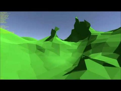 Low poly voxel engine