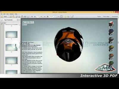 SMK Helmets - Interactive 3D PDF