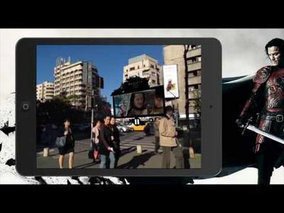 Vuforia: movie trailer demo.