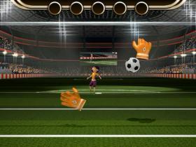 Interactive soccer minigame