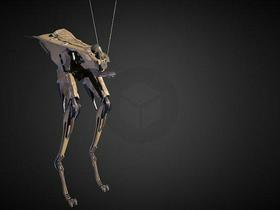 Hard surface modelling: Grass hopper X-356A