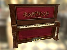 Old piano modeling