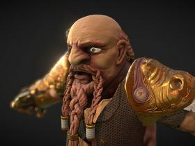 Armored Dwarf Bust