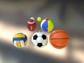 Low Polygon Sport Ball Set